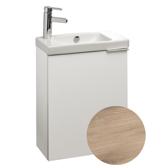 Meuble sous lave mains od on up l 48 5 1 porte m lamin for Meuble sous lave main