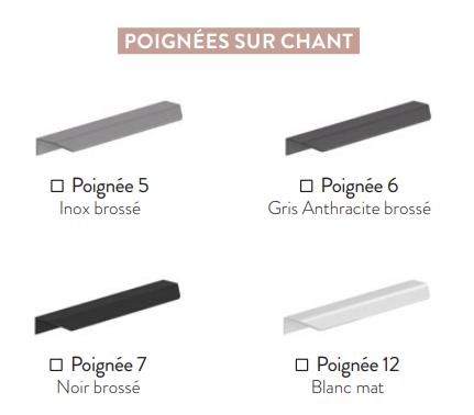 Meuble sous-plan ARCHITECT 60cm 1 tiroir Blanc alpin mat / poignée sur chant - AQUARINE Réf. 241840