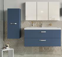Meuble sous-plan ARCHITECT 60cm 1 tiroir Bleu Baltique Mat - AQUARINE Réf. 243581