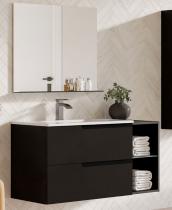 Meuble sous-plan ARCHITECT 60cm 1 tiroir prise de main Noir mat -  Aquarine Réf. 245247