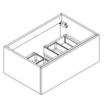 Meuble sous-plan ARCHITECT 70cm 1 tiroir Blanc brillant laqué - poignée sur chant - AQUARINE Réf. 241935