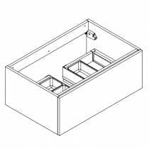 Meuble sous-plan ARCHITECT 70cm 1 tiroir Chêne Halifax blanc - poignée au choix - AQUARINE Réf. 242621
