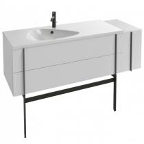Meuble sous plan-vasque Nouvelle Vague 145cm 2 tiroirs + 1 porte laque Blanc brillant - JACOB DELAFON Réf. EB3038-G1C