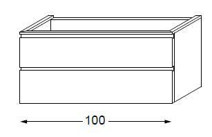 Meuble sous table HALO chêne massif avec LED poignée intégrée 100 cm - SANIJURA Réf. 115793