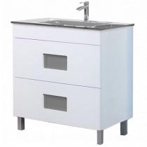 Meuble sous vasque Color 80cm 2 tiroirs Blanc - OZE Réf. CAISCOLOR800