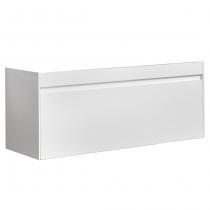 Meuble suspendu Agate 120cm 1 tiroir Blanc - OZE Réf. CAISAGATE1200B