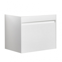Meuble suspendu Agate 80cm 1 tiroir Blanc - OZE Réf. CAISAGATE800B