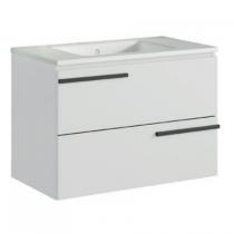 Meuble suspendu Cimon 120cm 2 tiroirs Blanc pour simple vasque centrée - O\'DESIGN Réf. CAISCIMON1200BSC