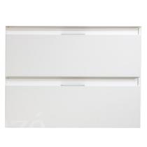Meuble suspendu City 80cm 2 tiroirs Blanc - OZE Réf. CAISCITY800BT