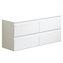 Meuble suspendu Come 120cm 4 tiroirs Blanc - OZE Réf. CAISS1200B