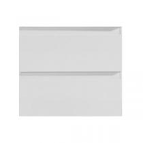 Meuble suspendu Come 80cm 2 tiroirs Blanc - OZE Réf. CAISS800B