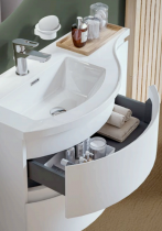 Meuble YLIADE 110cm Gris Mat avec plan vasque - Aquarine Réf. 245614