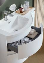 Meuble YLIADE 90cm Gris Mat avec plan vasque - Aquarine Réf. 245609