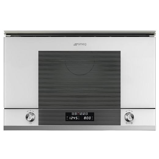 micro ondes gril encastrable lin a 22l 850w blanc smeg. Black Bedroom Furniture Sets. Home Design Ideas