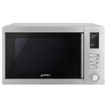 Micro-ondes gril pose libre 25l 1000W Inox anti-trace - SMEG Réf. MOE25X