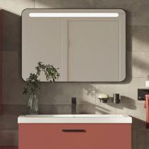 Miroir éclairant FRAME 100cm Noir mat - Aquarine Réf. 826178