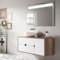 Miroir led Aba 100cm avec antibuée et loupe - O\'DESIGN Réf. ABA1000