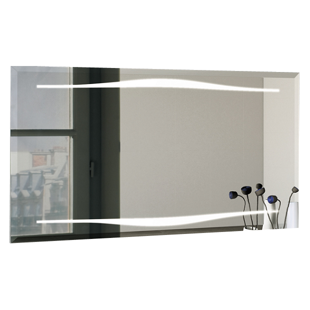 miroir led epure 140cm decotec r f 1811771. Black Bedroom Furniture Sets. Home Design Ideas