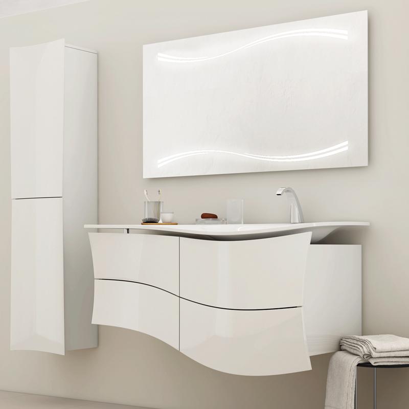 Miroir Led Maestro 130cm Pour Vasque A Droite Decotec Ref 1812101