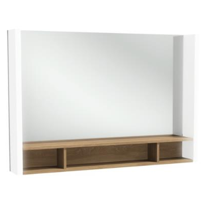 miroir terrace l 100 avec tag re bois massif jacob delafon r f eb1182 nf. Black Bedroom Furniture Sets. Home Design Ideas