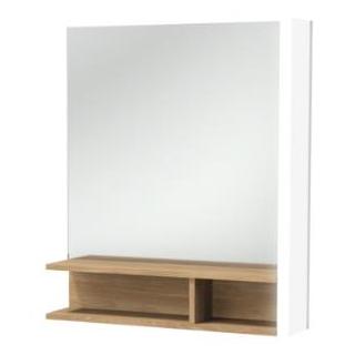 Promo miroir terrace l 60 avec tag re bois massif for Miroir etagere