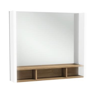 miroir terrace l 80 avec tag re bois massif jacob. Black Bedroom Furniture Sets. Home Design Ideas