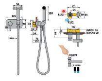 Mitigeur à encastrer pour Kit hygiénique Cox Chromé - PAINI Réf. 78CR970