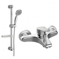 Mitigeur bain-douche EcoProject avec accessoires et barre Chromé - GRB Réf. 10228110