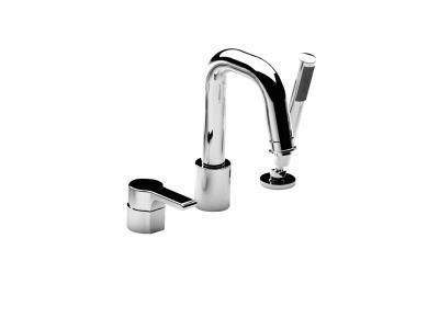 mitigeur bain douche sur gorge singulier 3 trous chrome. Black Bedroom Furniture Sets. Home Design Ideas