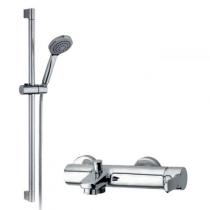 Mitigeur bain-douche Tender avec barre, flexible et douchette Chromé - GRB Réf. 40228400