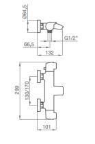 Mitigeur bain-douche thermostatique Premier Chromé - GRB Réf. 50210500