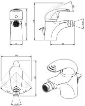 Mitigeur bidet Alfa avec vidage Chromé - SANINDUSA Réf. 500040011
