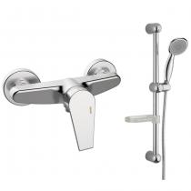 Mitigeur douche EcoProject avec accessoires et barre Chromé - GRB Réf. 10328110