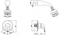 Mitigeur douche encastré Alfa 3 sorties Chromé - SANINDUSA Réf. 500170111