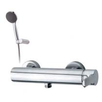 Mitigeur douche Tender avec flexible et douchette Chromé - GRB Réf. 930900