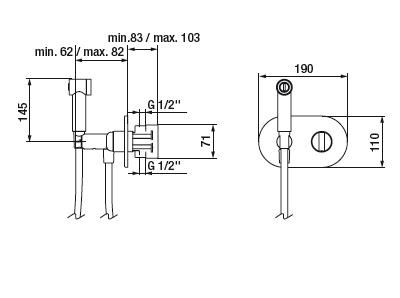 Mitigeur Intimixer Round thermostatique à encastrer Chromé - GRB Réf. 08315320