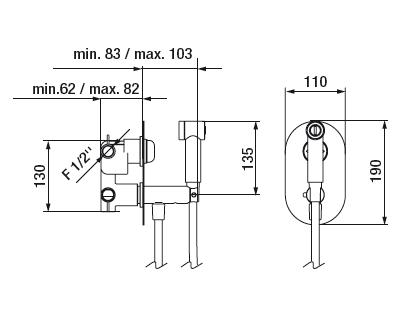 Mitigeur Intimixer Round thermostatique à encastrer Chromé - GRB Réf. 08316320