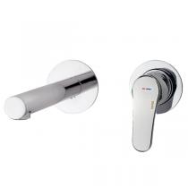Mitigeur lavabo à encastrer E-Plus bec 200mm Chromé - GRB Réf. 35535350