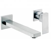 Mitigeur lavabo encastré 2 trous Daly Nickel brossé - O\'DESIGN Réf. D101NB