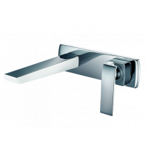 Mitigeur lavabo encastré Maestro Chromé / Blanc - O\'DESIGN Réf. MAE101B