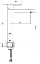 Mitigeur lavabo haut VISION Noir - Aquarine Réf. 825004