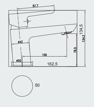 Mitigeur lavabo VISION Noir - Aquarine Réf. 825000
