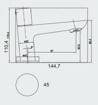 Mitigeur lave-mains VISION Noir - Aquarine Réf. 825001