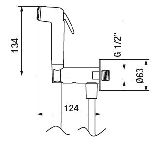 Mitigeur périnéal Intim Rondo avec accessoires Hydrobrush - GRB Réf. 08426320
