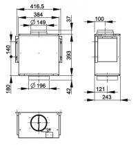 Moteur séparé pour hotte Confort Evolution  - ROBLIN Réf. 6301028