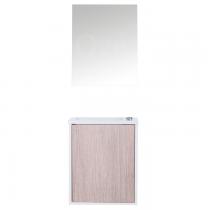 Pack lave-mainns Loft 40cm mélaminé Chêne - OZE Réf. LOFT400