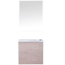 Pack lave-mains Loft 50cm mélaminé Chêne - OZE Réf. LOFT500