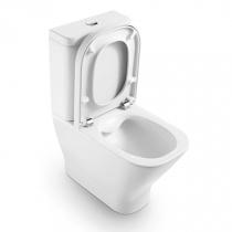 Pack WC à poser The Gap sans bride avec abattant frein de chute Blanc - ROCA Réf. A34D737000