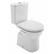 Pack WC Easy sortie hotizontale / alimentation latérale Blanc avec abattant Slowclose- SANINDUSA Réf. 131918