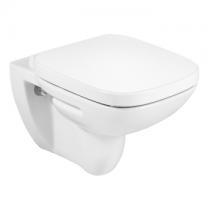 Pack WC suspendu Debba Square Rimless sans bride avec abattant frein de chute Blanc - ROCA Réf. A34H99L000
